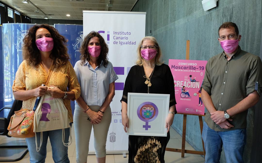 El Instituto Canario de Igualdad entrega los premios del concurso 'Mascarilla-19'