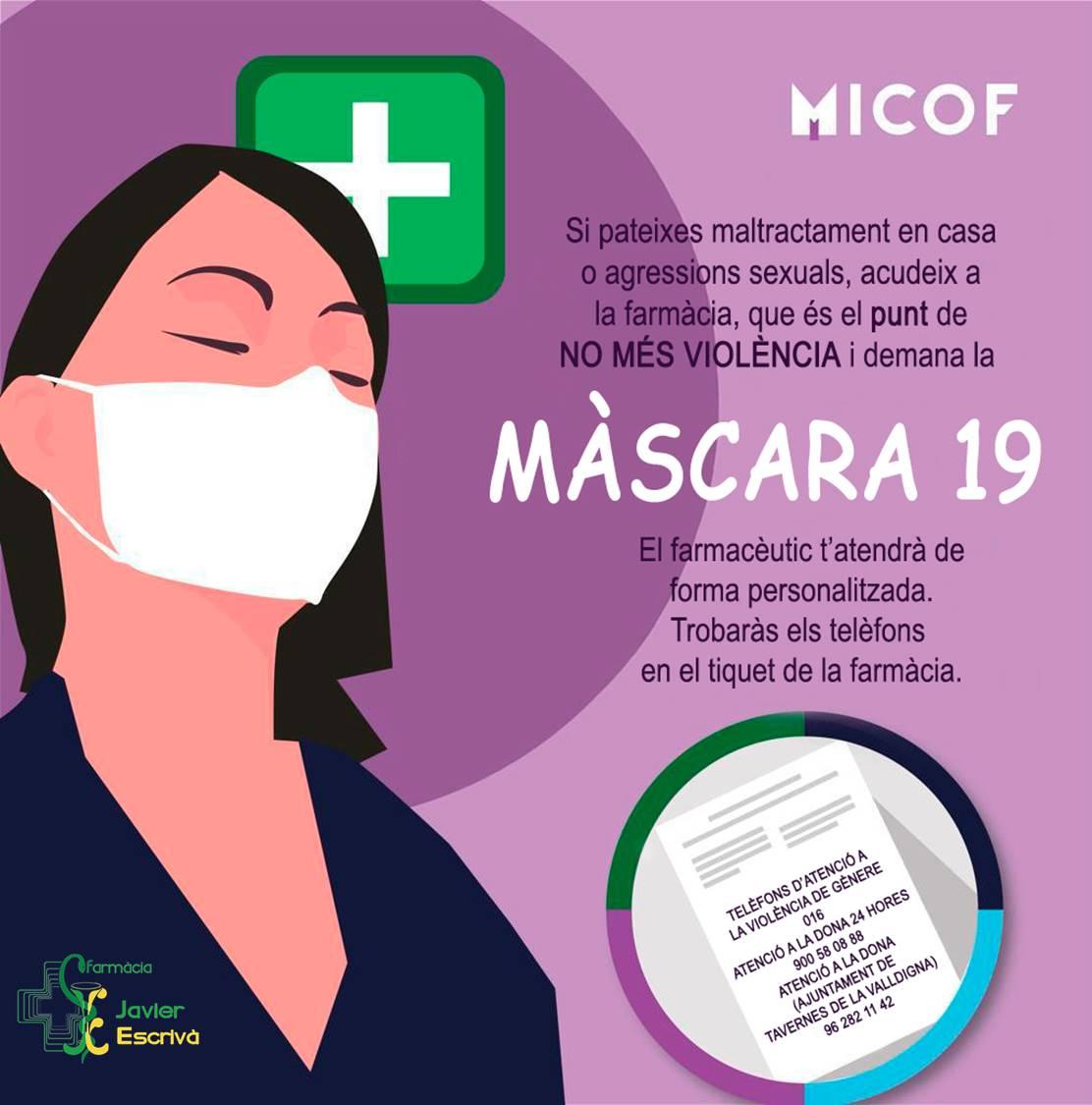 Cartel Farmacia Javier Escriba